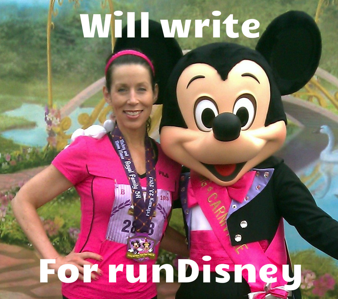 Will write for runDisney