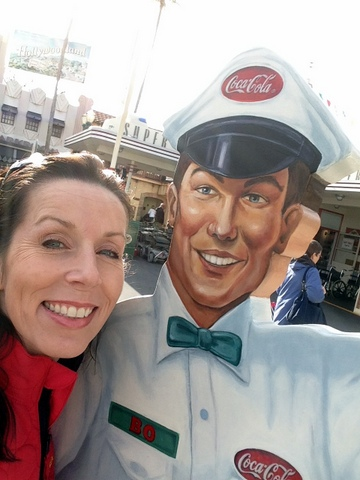 I always have to get a picture with Coke Man!