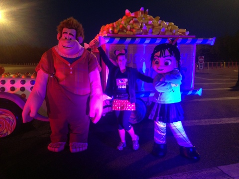 Hanging with Wreck-it Ralph and Vanellope!