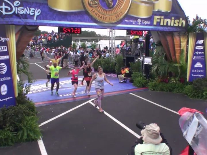 Screenshot from the runDisney live feed!