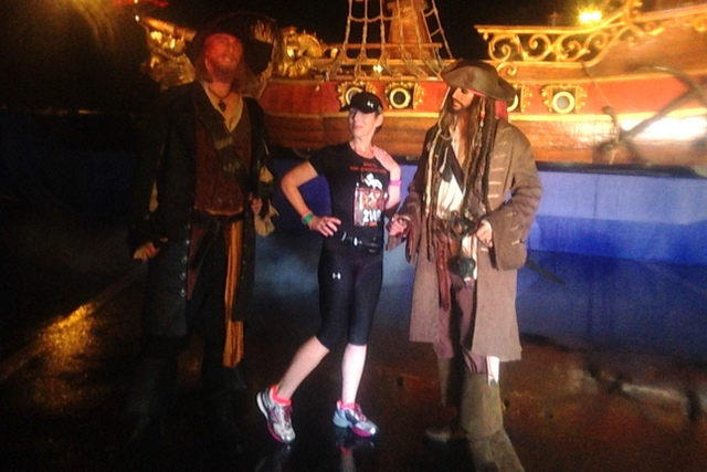 Long line for Captain Jack but I'm so happy this photo turned out great! Yeah, that's me, getting cheeky.