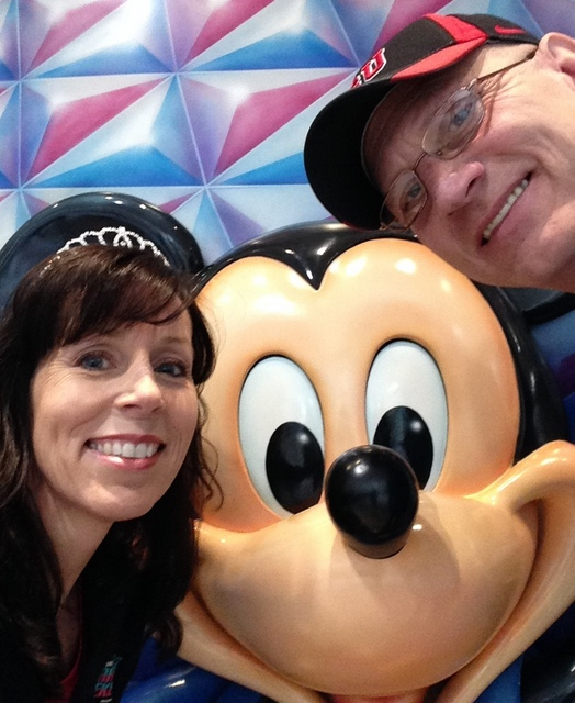 There's always time for a selfie with Mickey, though!