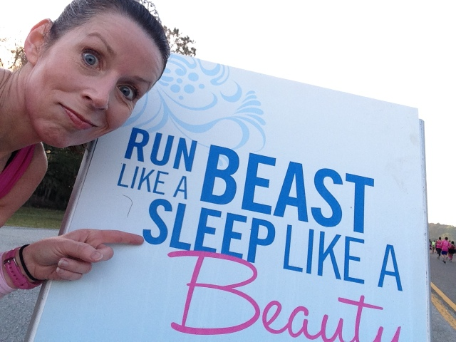Yeah. I might run like a beast at times but I sleep like crap.