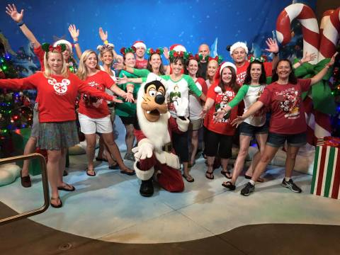 And best of all, we got a picture with Santa Goofy!