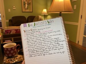 Julia Cameron: The Artist's Way Week 1
